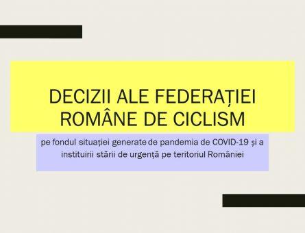 Decizii ale federației române de ciclism
