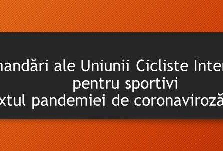 Recomandări ale Uniunii Cicliste Internaționale